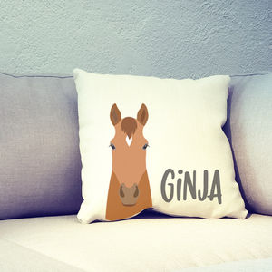 Personalised Horse Head Cushion Cover