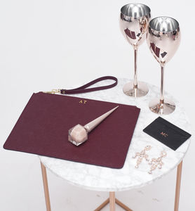 Personalised Leather Clutch - personalised gifts for her
