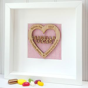 Our Daddy Forever Personalised Oak Heart