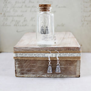 Thimble Charm Earrings In A Bottle - personalised jewellery