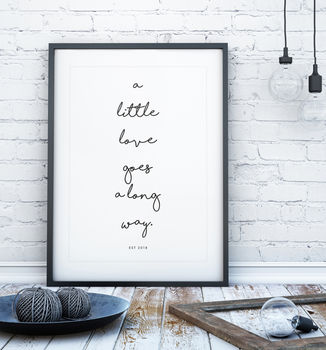 Handwritten Personalised Quote Print
