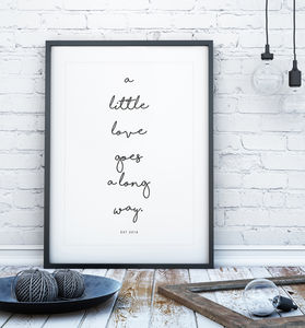Handwritten Personalised Quote Print - typography