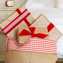 Red Gingham top trim