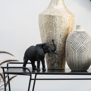 Hand Carved Elephant Decoration