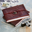 Handcrafted Indra Medium Stoned Leather Photo Album