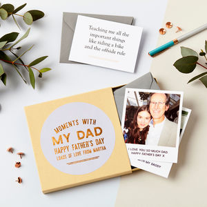 Moments With Dad Memory Box - father's day cards