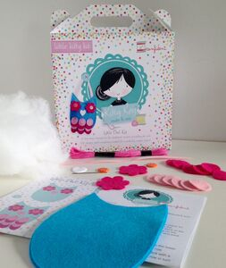 Activity Sewing Craft Kit Gift Turquoise Owl