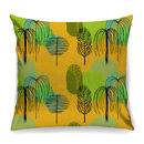 Mid Century Trees In Yellow Fabric