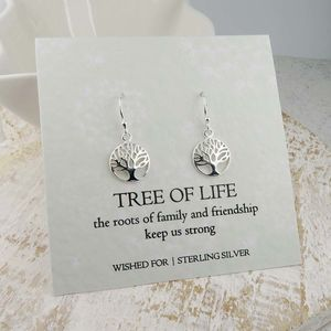 Tree Of Life Silver Earrings - earrings