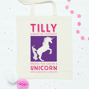 Personalised Unicorn Bag - party bags and ideas