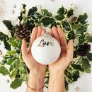 Christmas Bauble With Love