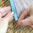 Sewing in ends on a wall hanging