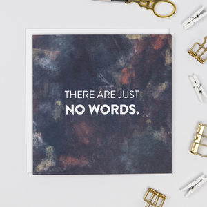 'No Words' Sympathy And Empathy Card - shop by category