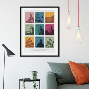Travel Memories And Favourite Places Personalised Print