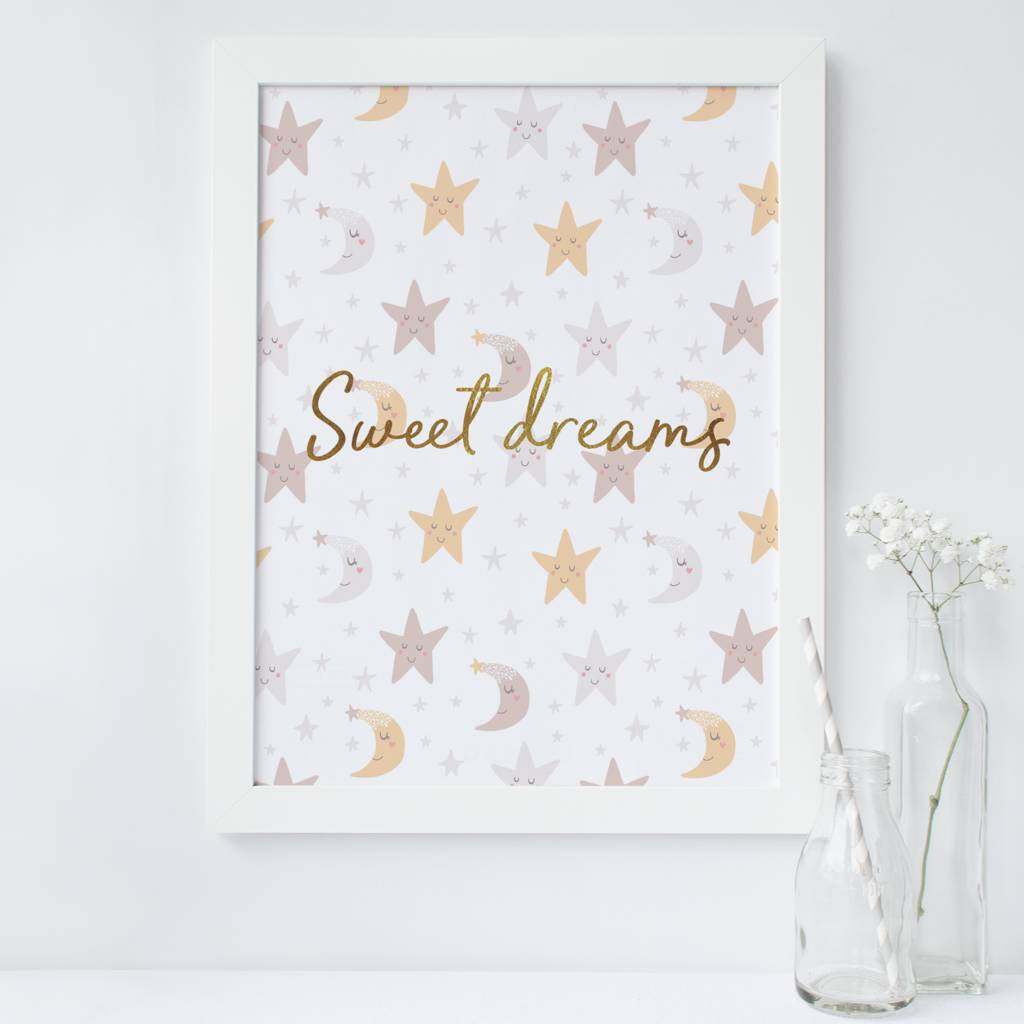 'Sweet Dreams' Foil Print