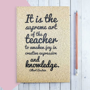 Thank You 'Teacher' Quote Journal