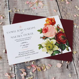 Modern Botanical Wedding Invitation Suite