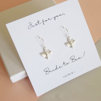 Bride To Be Bee Drop Earrings