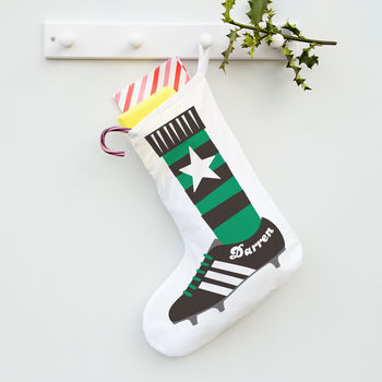 Personalised Football Boot Stocking