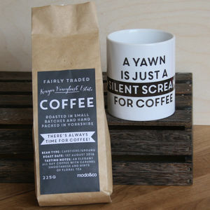 Personalised Silent Scream Coffee And Mug Set - teas, coffees & infusions