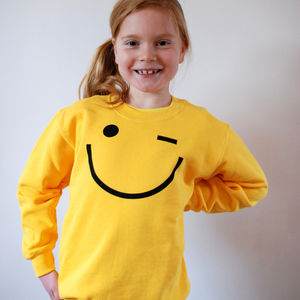 'Wink' Smiley Face Sweatshirt