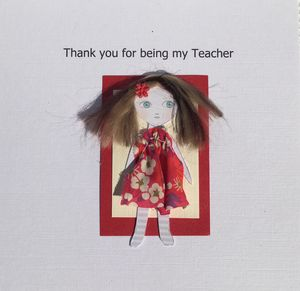Thank You Teacher Card Personalised