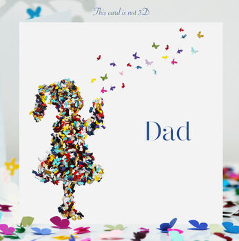 Butterfly Kisses Dad Card, Dad Love Card