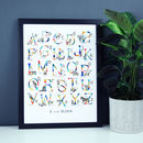 Personalised Animal Alphabet A3 Print