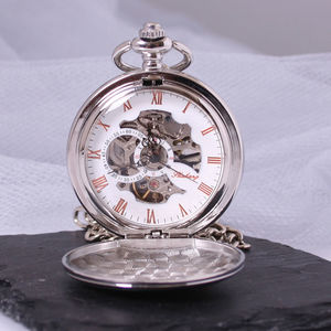 Engraved Pocket Watch With Roman Numerals - watches