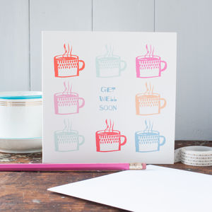 Get Well Soon Mugs Card