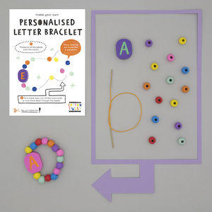 Make Your Own Personalised Letter Bracelet Kit - toys & games