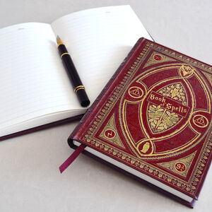 2020 Hp Themed Book Of Spells Hardback Diary