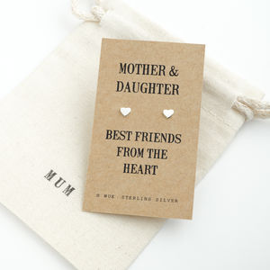 Mother And Daughter Gift Earrings - earrings