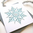 Christmas Card Laser Cut Snowflake In Ice Blue