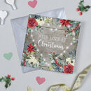 Fairy Lights Heart Christmas Card