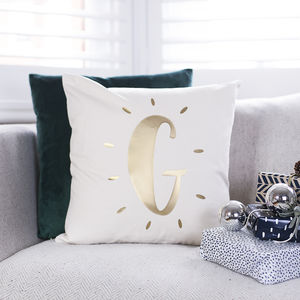 Personalised Glowing Initial Cushion - cushions