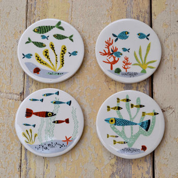 Ceramic Fish Coaster