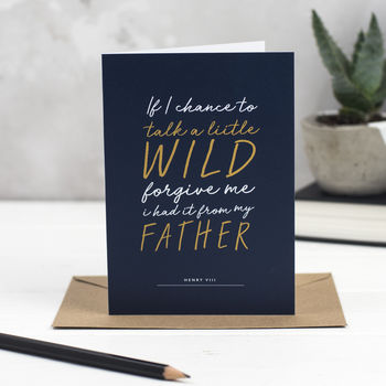 Shakespeare Father's Day Card