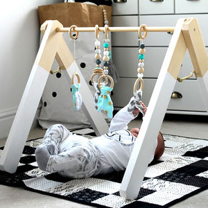 Mint Wooden Baby Play Gym - toys & games