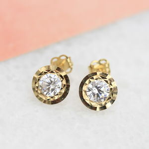 9ct Gold Stud Earrings - earrings