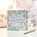 Congratulations Botanical And Gold Greeting Card