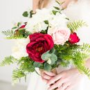 Botanical Inspired Faux Bridal Bouquet With Ferns
