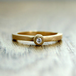 Moissanite Engagement Ring In Recycled 9ct Gold