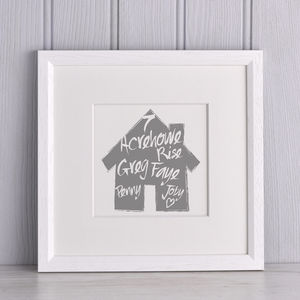 Handpainted Family House Print - family & home