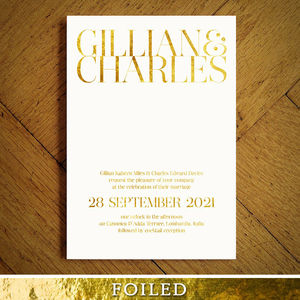 Mayfair Foiled Wedding Invitation - wedding stationery