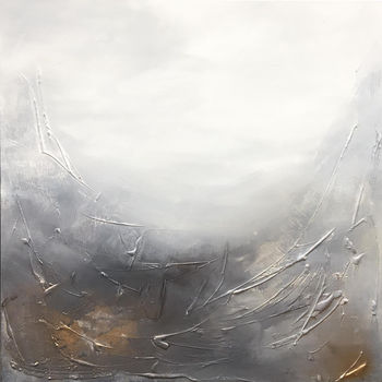 Original Painting In Canvas 'It Was Raining'