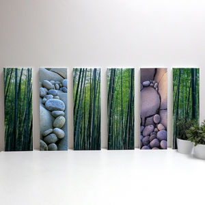 'Bamboo And Pebbles' Japan And France Canvas Print - photography & portraits