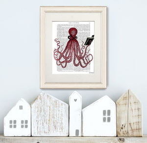 Intelligent Octopus Print, Book Print