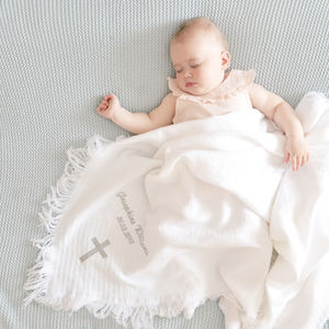 Personalised Christening Baby Shawl - christening gifts
