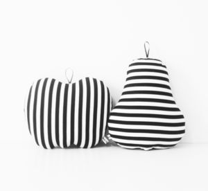 Stripe Pear Shaped Cushion - cushions